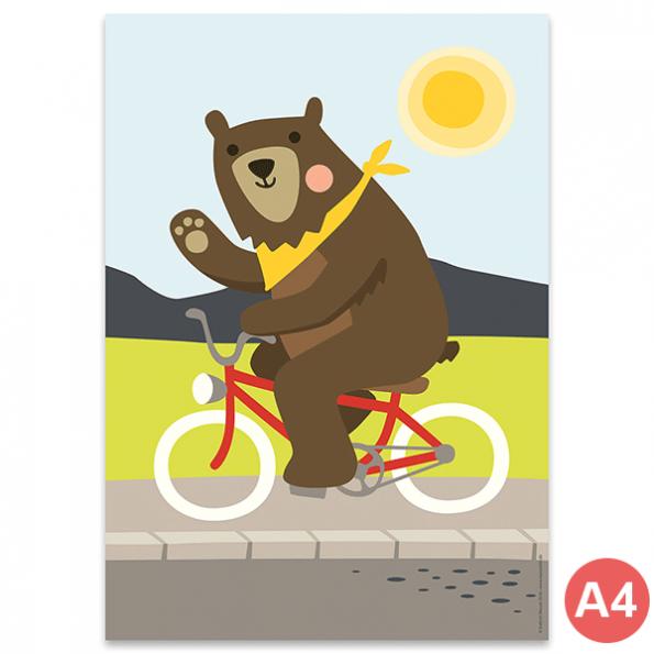 käselotti A4 Poster Bär