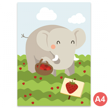 käselotti A4 Poster Elefant