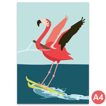 käselotti A4 Poster Flamingo