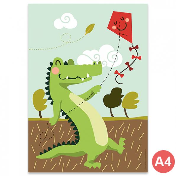 käselotti A4 Poster Krokodil