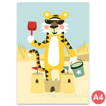 käselotti A4 Poster Tiger