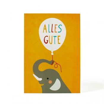 käselotti Postkarte Alles Gute Elefant