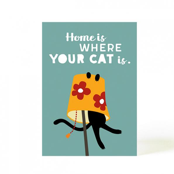 käselotti Postkarte Home is