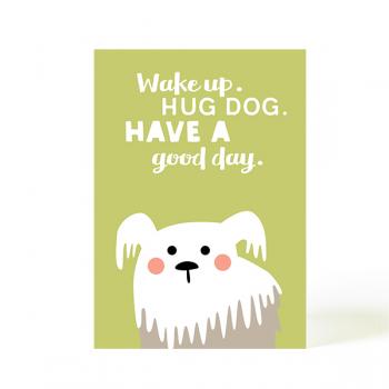 käselotti Postkarte Hug Dog
