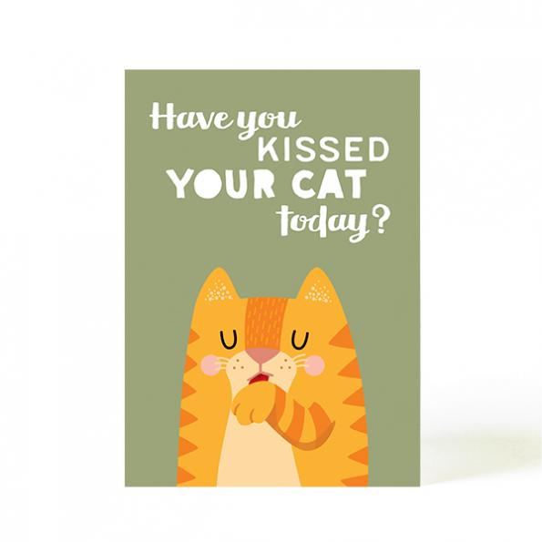 käselotti Postkarte Kiss your cat