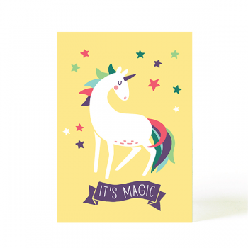käselotti Postkarte Magic Einhorn
