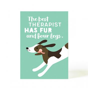 käselotti Postkarte Therapist Dog