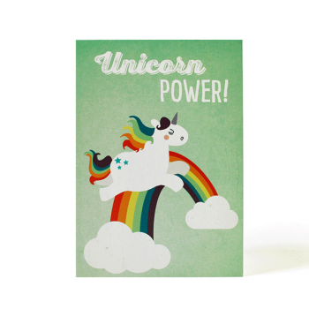 käselotti Postkarte Unicorn Power
