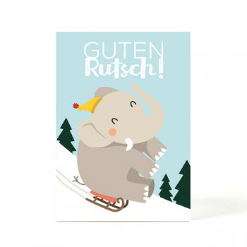 käselotti Weihnachtspostkarte Elefant
