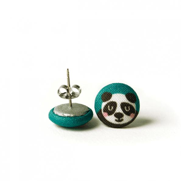 käselotti Stoff-Ohrstecker Panda