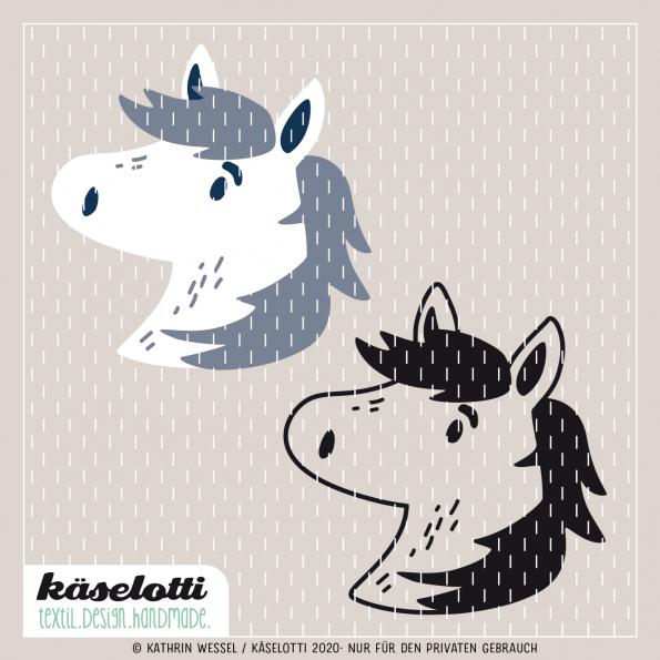 Furry Faces Plotterdatei Pony