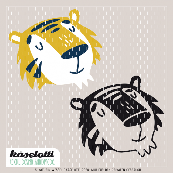 Furry Faces Plotterdatei Tiger